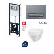 Комплект AM.PM: инсталляция с клавишей глянц. хром, унитаз Spirit, сиденье микролифт, , 28 681 руб., I012702/I014151/C701738SC, AM.PM, Инсталляции для унитазов