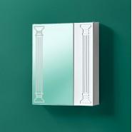Шкаф зеркальный Акваль Марта 55, 660х550 мм, 04.55.00.N