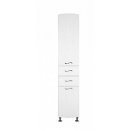 Шкаф-пенал Aquanet Моника 40 L, 396х2043 мм, 186777, , 12 467 руб., 186777, Aquanet, Пеналы для ванных комнат