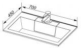 Раковина-столешница Aquanet Фортуна 700х450 мм, 182523