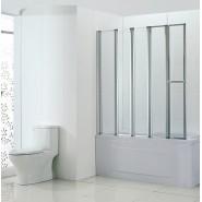 Шторка для ванны BandHours Inox 140, 140х150 см, 210190001, , 13 272 руб., 210190001, BandHours, Душевые ограждения и шторки для ванн