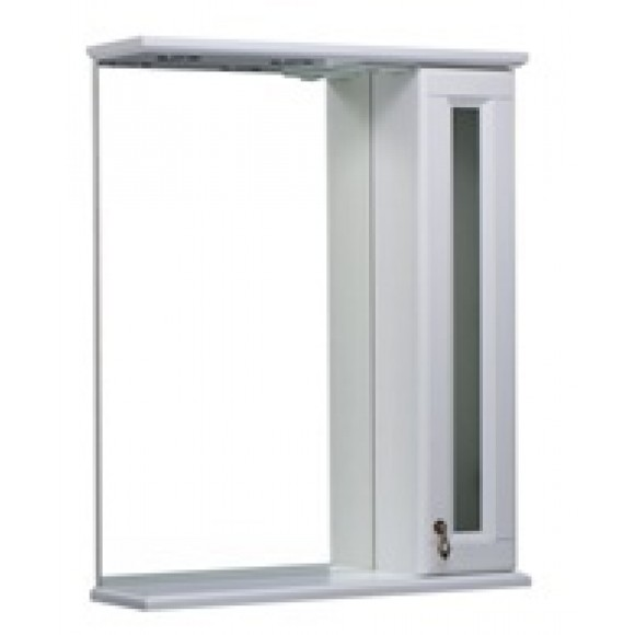Зеркало (со шкафчиком и стеклянной вставкой) Варна 65 BAS, Варна 65