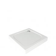 Душевой поддон BAS Квадро, литьевой мрамор, 100х100 см