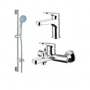 Комплект для ванной комнаты 3 -1 Bravat Eler, F00450CP, , 9 581 руб., F00450CP, Bravat, Душевые комплекты