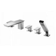Смеситель для ванны и душа Bravat Phillis, 205 мм,  F556101C-ENG, , 37 960 руб., F556101C-ENG, Bravat, Смесители на борт ванны