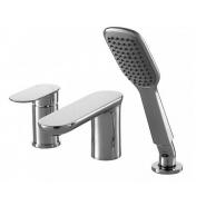 Смеситель для ванны и душа Bravat Gina, 155 мм, F565104C-2-ENG, , 22 828 руб., F565104C-2-ENG, Bravat, Смесители на борт ванны
