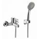 Смеситель для ванны и душа Bravat Slim, 129 мм, TF6332366CP-01-RUS