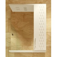 Зеркальный шкаф правый с подсветкой De Rossa Клио 60, 600х730 мм, 00335, , 3 680 руб., 335, De Rossa, Зеркальные шкафы