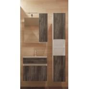 Зеркальный шкаф Римини 60, без подсветки,  600х665 мм, 00385, , 2 707 руб., 00385, De Rossa, Зеркальные шкафы