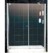 Душевая дверь распашная одностворчатая с неподвижной стенкой Domustar, EF-07-2, , 30 800 руб., EF-07-2, Domustar, Душевые двери