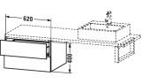 Тумбочка подвесная для консоли L-Cube  Duravit, LC687706969