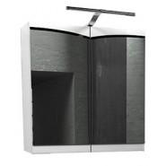 Зеркальный шкаф Edelform Конкорд 65 со светильником, 600х620 мм, 2-702-00-S-K