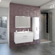Зеркальный шкаф Edelform Фортэ 95, белый, , 17 548 руб., Forte, Edelform, Шкафы для ванных комнат