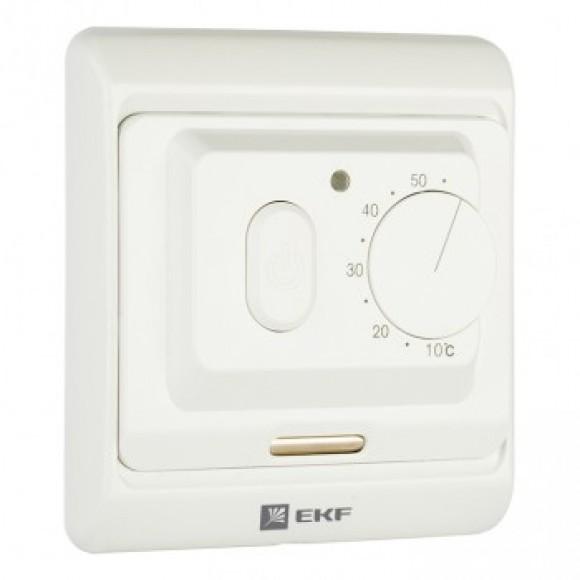 Термостат EKF Proxima для теплых полов, механический, 16 A, 230В, с датчиком пола
