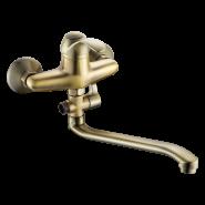 Cмеситель для ванны и душа Gross Aqua Arabic Bronze, 372 мм, 7532516BRL-35S, , 6 140 руб., 7532516BRL-35S, GROSS AQUA, Смесители с длинным изливом