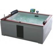 Ванна акриловая гидромассажная Gemy, 186х151 см, G9052-II O