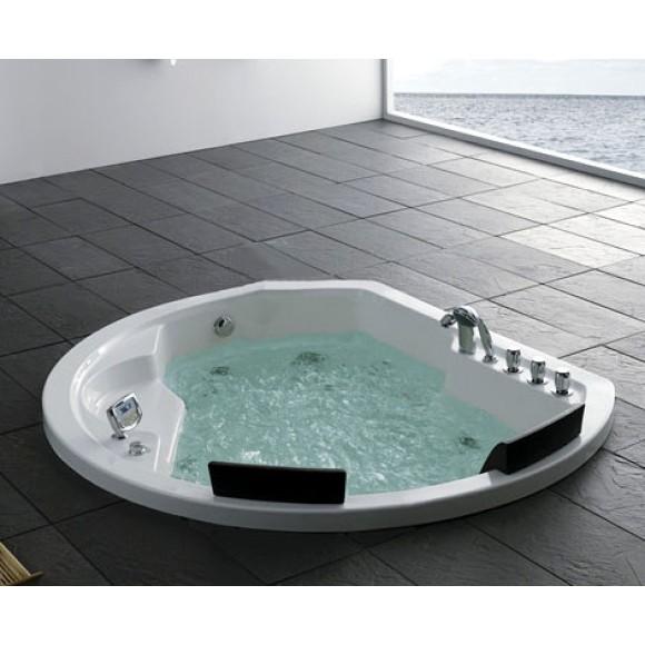 Ванна акриловая гидромассажная Gemy, 185х162 см, G9053 K