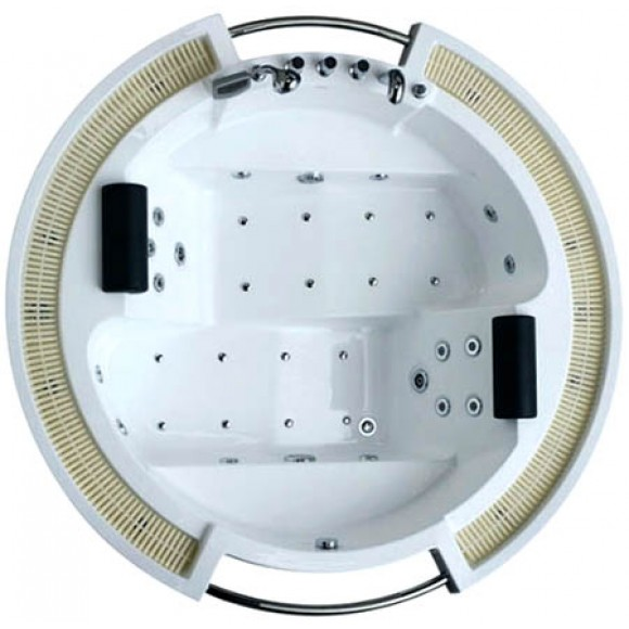 Ванна акриловая гидромассажная Gemy, 210х210 см, G9060 K