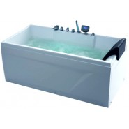 Ванна акриловая гидромассажная Gemy, 161х81 см, G9075 K