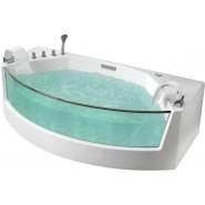 Ванна акриловая гидромассажная Gemy, 200х105 см, G9079