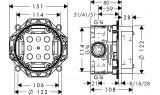 Скрытая часть смесителя для душа Hansgrohe  ibox universal,  01800180