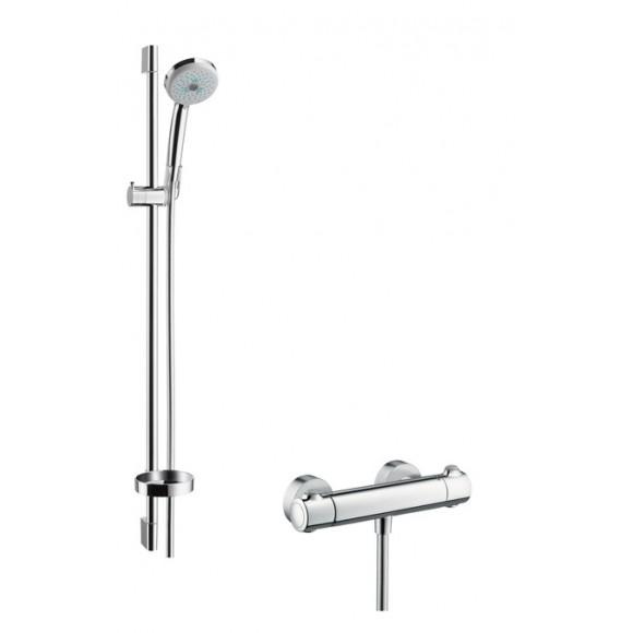Душевой набор Hansgrohe Croma 100 Multi / Ecostat 1001 SL Combi, ½', 100 мм/900 мм, 27085000
