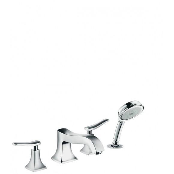 Смеситель на край ванны, на 4 отверстия, ½' Hansgrohe Metris Classic, 203 мм, 31314000