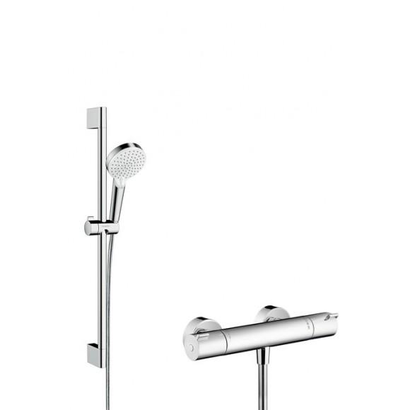 Душевой набор Hansgrohe Crometta Vario / Ecostat 1001 CL Combi, 100 мм/650 мм, 27812400