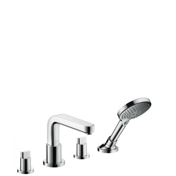 Смеситель на край ванны, на 4 отверстия, ½' Hansgrohe Metris S, 171 мм, 31446000