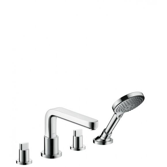 Смеситель на край ванны на 4 отверстия, ½', Hansgrohe Metris S, 220 мм, 31447000