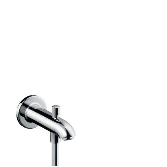 Излив на ванну E 152 мм с переключателем на душ Hansgrohe, 13423000