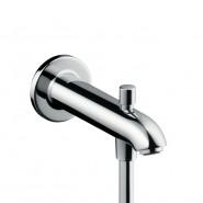 Излив на ванну E 228 мм с переключателем на душ Hansgrohe, 13424000, , 9 419 руб., 13424000, Hansgrohe, Комплектующие для смесителей