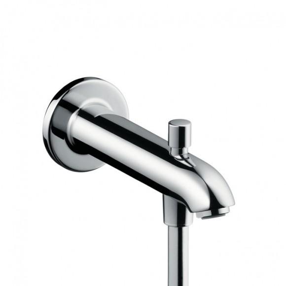 Излив на ванну E 228 мм с переключателем на душ Hansgrohe, 13424000
