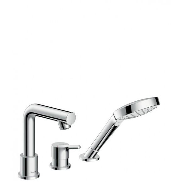 Смеситель на край ванны, на 3 отверстия Hansgrohe Talis S, 200 мм, 72416000