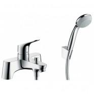 Смеситель для ванны на 2 отверстия Hansgrohe Focus, 141 мм, 31521000, , 16 863 руб., 31521000, Hansgrohe, Смесители на борт ванны