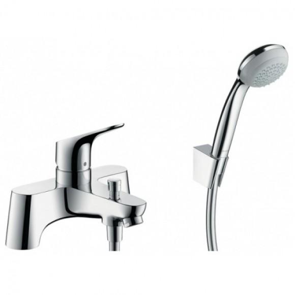 Смеситель для ванны на 2 отверстия Hansgrohe Focus, 141 мм, 31521000