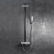 Смеситель для ванны с верхним душем Iddis ALPS, 170х245 мм/1056 мм, ALPSB1Fi06, , 34 057 руб., ALPSB1Fi06, Iddis, Душевые стойки со смесителем