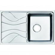 Мойка для кухни чаша справа Iddis Reeva, 780х480 мм, REE78SRi77, , 9 640 руб., REE78SRi77, Iddis, Мойки из нержавеющей стали