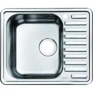Мойка для кухни чаша слева Iddis Strit, 585х485 мм, STR58SLi77, , 5 501 руб., STR58SLi77, Iddis, Мойки из нержавеющей стали