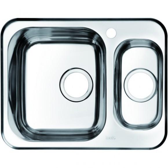 Мойка для кухни 1 1/2, чаша слева Iddis Strit, 605х480 мм, STR60PXi77