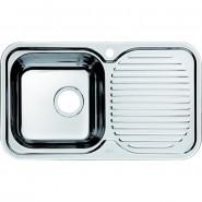 Мойка для кухни чаша слева Iddis Strit, 760х435 мм, STR76PLi77, , 5 880 руб., STR76PLi77, Iddis, Мойки из нержавеющей стали