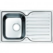 Мойка для кухни чаша слева Iddis Strit, 780х480 мм, STR78SLi77, , 6 413 руб., STR78SLi77, Iddis, Мойки из нержавеющей стали