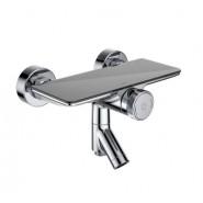 Смеситель для ванны с управлением Push Control IDDIS Shelfy, 117 мм, SHESBBTi02WA, , 13 933 руб., SHESBBTi02WA, Iddis, Смесители для ванны и душа