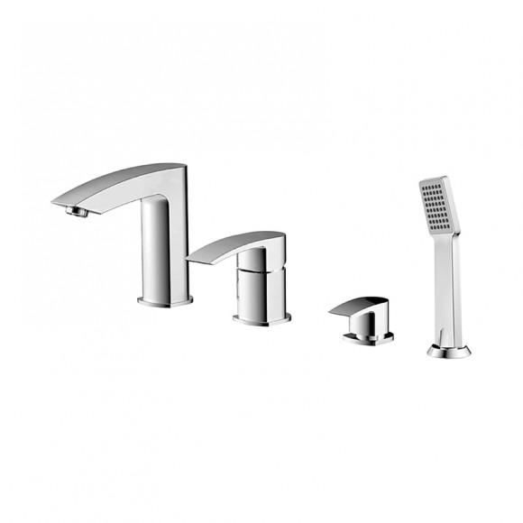 Смеситель для ванны на 4 отверстия Iddis Vane, 132 мм, VANSB40I07