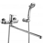 Смеситель для ванны с длинным изливом Iddis Edifice, 400 мм, EDISBL2i10