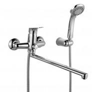 Смеситель для ванны с длинным изливом Iddis Vinsente, 369 мм, VINSBL2i10