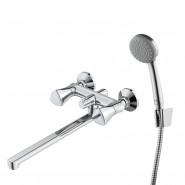 Смеситель для ванны с керамическим дивертором Iddis Bounce, 350 мм, BOUSBL2i10