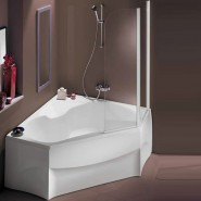 Шторка на ванну Jacob Delafon Adequation, 100х142 см, E46N96V-01R, , 34 840 руб., E46N96V-01R, Jacob Delafone, Душевые ограждения и шторки для ванн