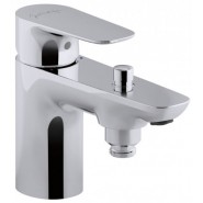 Смеситель для ванны и душа Jacob Delafon Aleo, 137 мм, E72284-CP, , 17 919 руб., E72284-CP, Jacob Delafone, Смесители на борт ванны