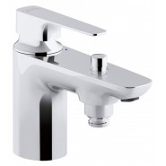 Смеситель для ванны и душа Jacob Delafon Aleo, 137 мм, E72321-CP, , 10 888 руб., E72321-CP, Jacob Delafone, Смесители на борт ванны